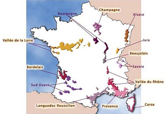 Carte des regions